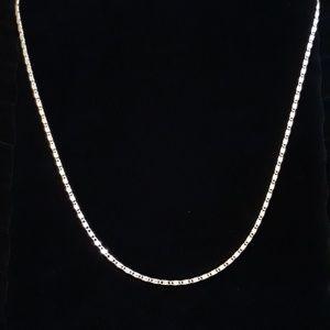 "24"" Flat Diamond Cut Linked Necklace"